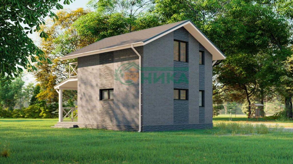 Визуализации проекта дома Прованс из СИП панелей