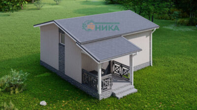 Проект дома из СИП панелей Мансур