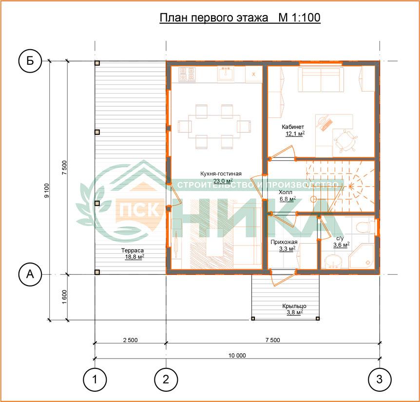 План этажей проект Семейный