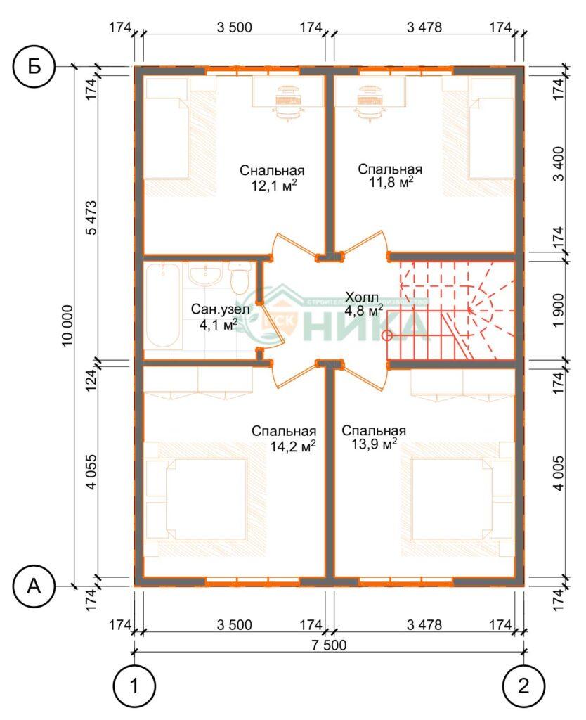 Планы этажей проекта Алкеста